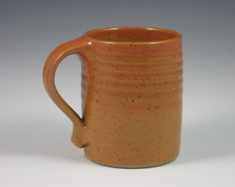 Glossy Coral/Orange Large Mug