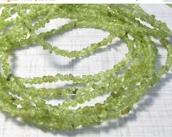 OUT Of Town SALE Natural Peridot Raw Nugget Tiny Beads 3mm, 35 Inches , Arizona Peridot Transparent Gemstone