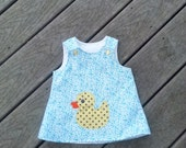 Girls Duck Dress, Girls Shift Dress, Appliqued Dress, Toddler Girl Dress, Spring Dress, Dresses For Girls, Groovy Gurlz, Birthday Dress