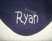 Ryan Personalized Blanket - 2 Ply Knit Approximately 36 in X 30 in Available in 8 colors