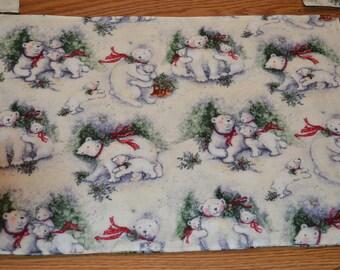 Polar Bear Christmas Placemats set of 2