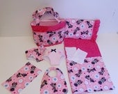 Bitty Baby Basics in Minnie Mouse - Diaper Bag and Diapers with Blanket and Pillow