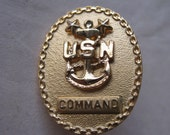 US Navy Gold Command Pin Brooch
