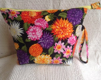 Zippered Project Bag-Flower Garden