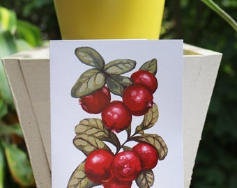 Lingonberry Card