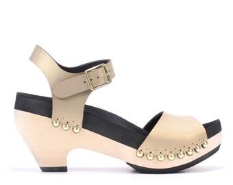 High Heel with Ankle Strap | Custom, Vegan, Handmade | 6 Color Options