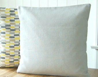 16 inch light grey decorative pillow cover , gray solid accent linen cushion cover cover 40 cm