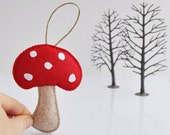Red Mushroom Christmas Ornament - Baby Shower - Party Favor