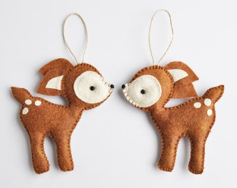 Friendly Deer Christmas Ornament - Baby Shower - Party Favor