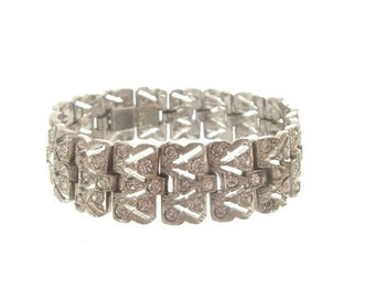 Art Deco Bracelet, Vintage Rhinestone Art Deco, 1920s Antique Art Deco Jewellery, Crystal Wedding Jewelry