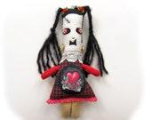 Sabina Frankenstein  - handmade Frankenstein's daughter doll