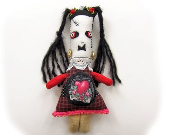 Sabina Frankenstein  - a handmade Frankenstein's daughter doll