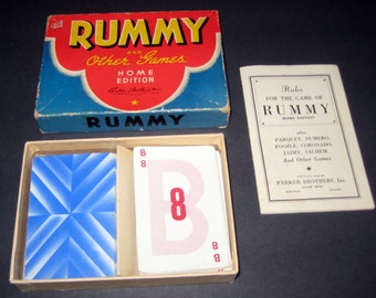 Vintage  (1942) Rummy Card Game with Directions for Various Card Games