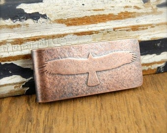 Bald eagle money clip, American eagle engraved money clip, personalized gifts for him.
