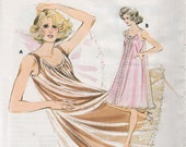 Kwik Sew 214 1960s Misses Two Layer Nightgown Pattern Tricot and Sheer Womens Vintage Sewing Patterns  Size Sm Md Lg  Bust 34 - 41 UNCUT