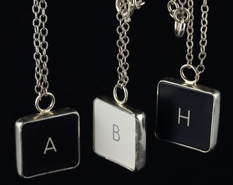 FINAL SALE - Computer Key Jewelry - rePURPOSED MacBook Letter Necklace (a, b, h) 75% OFF