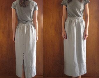 SKY BLUE LINEN maxi skirt, s-m