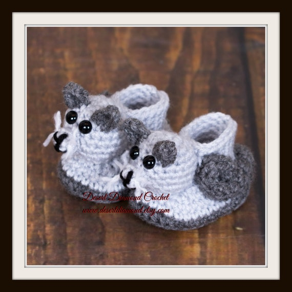 Kitty Cat Baby Booties - 5 Sizes - Made To Order