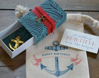 Something Beautiful on the Horizon Birthday Message Box with Nautical Theme