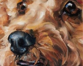 """reserved, Custom Pet Portrait Oil Painting by puci, 10x10"""""""
