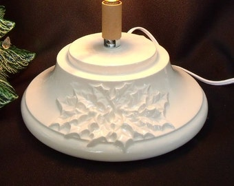 White (Large) Ceramic Christmas Tree Base
