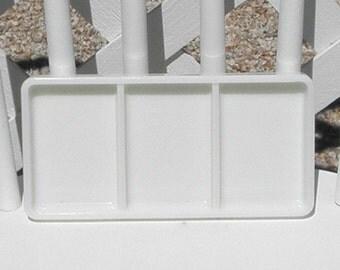 Dental Tray Vintage Milk Glass American Cabinet 0822 Vanity Drawer Cosmetics Craft Organizer Beading Tray Three Section