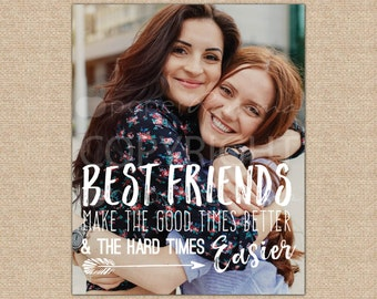 Unique Friendship Gift, Birthday Gift for Her, Best Friend Gift, Best Friend Quotes // ArtPaper Print or Canvas Print // H-Q67-1PS ZZ1 03P