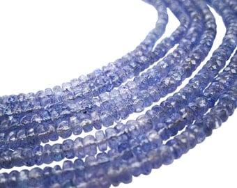 AAA Tanzanite Beads, Tanzanite Rondelles, Natural Tanzanite Beads, SKU 3617