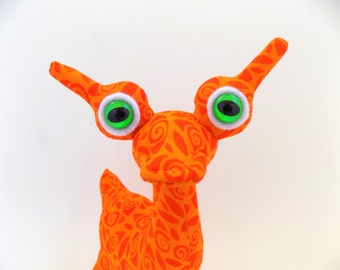 Cute Alien Toy, Alien Plush, Stuffed Animal, Orange Alien Toy for Boys by Adopt an Alien named Orzo