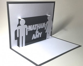 Toilet Signs Customize Names Pop Up Card