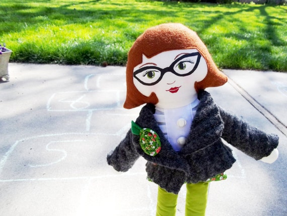 Personalized Cloth Doll, Handpainted Face, Made to Order