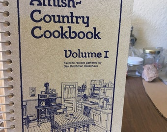 "Vintage cookbook, ""Amish Country Cookbook"""