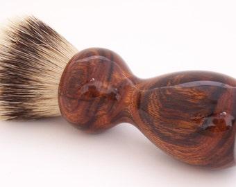 Desert Ironwood 24mm Super Silvertip Badger Hair Shaving Brush Handle (Handmade in USA) D4 - Anniversary Gift - Men's Gift - Executive Gift