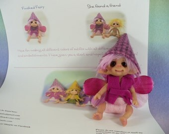 PDF tutorial Make a JOINTED Fairy elf troll DOLL  with clothing patterns easy to do polymer clay digital download pattern e-zine book