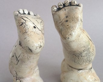 Salt and Pepper Shakers - baby feet