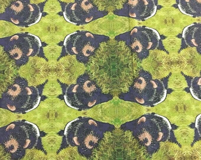 Original Tasmanian Drvil repeat pattern Fabric by Cindy Watkins  cotton