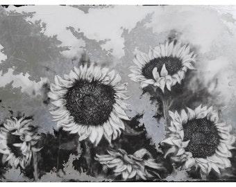 Following the Sun II - metallic print