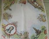 Reeserved for Tande - Wee Rabbie Burns - Souvenir Handkerchief/Hankie Robert Burns Poet - Scotland