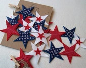 Star Banner, Star Garland, Felt Garland, Party, Memorial Day, Fourth of July, 4th of July Banner, Bunting, Garland, Banner, Holiday