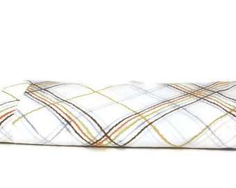 Vintage Twin Flat Sheet, Retro Bed Sheet, Plaid Bed Sheet, Retro Bedding, Vintage Sheet, Vintage Fabric, Photo Backdrop, Retro Fabric