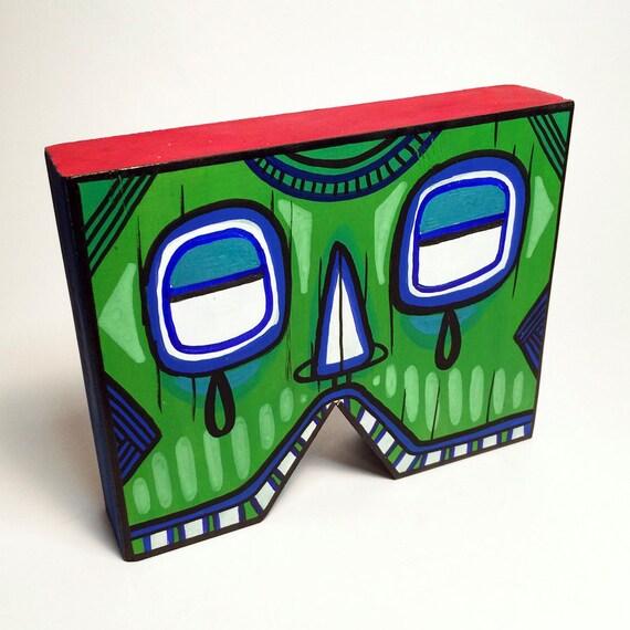 Funk Totem Part No. 383 - Original Mixed Media Block - Vol. 14