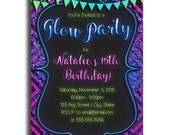 Glow Party Invitations - Custom