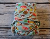 SECOND* One Size Stay Dry Overnight Fitted Cloth Diaper in Sushi
