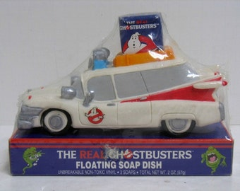 Vintage The Real Ghostbusters Floating Soap Dish Car Ecto-1 NISB Sealed NOS