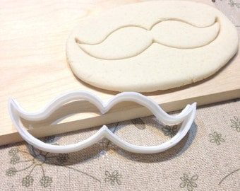 Mustache Cookie Cutter - Fondant Icing Cake Cupcake Topper Sugar Cookies Biscuits Mould Wedding Party Favors Cowboy Moustache Father's Day