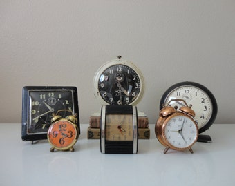 VINTAGE CLOCK COLLECTION - six clocks - instant collection