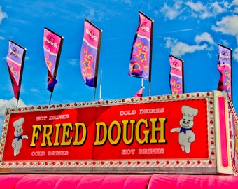 Fried Dough Carnival Food Vendor Fine Art Print- Carnival Art, County Fair, Nursery Decor, Home Decor, Children, Baby, Kids