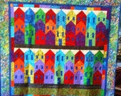 Black History Sale Island City 70 x 67 inch colorful art quilt