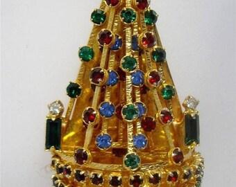 Joseph Warner Christmas Tree Pin, Vintage, Authentic, circa 1960