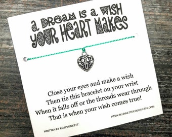 A Dream Is A Wish Your Heart Makes - Available In Over 100 Different Colors!!!  (Romantic Floral Themed Heart - Silver)